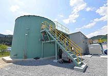 メタン発酵による液肥製造の実験プラント