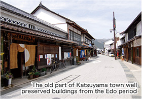 The old part of Katsuyama town