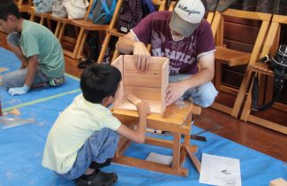 大工さんに習う木工体験