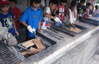 焼き板作り体験